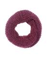 Gebreide col sjaal bordeaux rood voor volwassenen