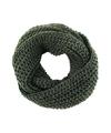 Gebreide col sjaal leger groen voor volwassenen