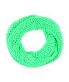 Gebreide col sjaal neon groen voor volwassenen