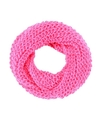 Gebreide col sjaal neon roze voor volwassenen