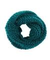 Gebreide col sjaal petrol voor volwassenen