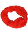 Gebreide col sjaal rood voor volwassenen