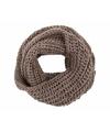 Gebreide col sjaal taupe voor volwassenen