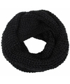 Gebreide col sjaal zwart voor volwassenen