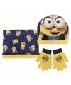 Geel blauwe minions winterset voor jongens