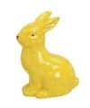Geel haas konijn dierenbeeldje 10 cm