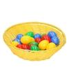 Geel paasmandje met eieren 25 cm