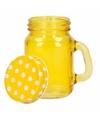 Geel shot glas met deksel
