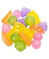 Gekleurde ijsblokjes fruitvorm 20 stuks