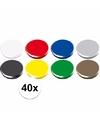 Gekleurde magneten setje 40 stuks