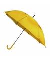Gele automatische paraplu 107 cm