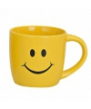 Gele drinkbeker met smiley type 3