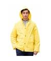 Gele regenjas splash voor volwassenen