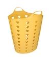 Gele wasmand flexibel 60 liter