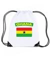 Ghana nylon rugzak wit met ghanese vlag