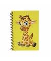 Giraffen notitieboekje geel 18cm