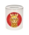 Giraffen spaarpot voor kinderen 9 cm