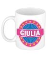 Giulia naam koffie mok beker 300 ml