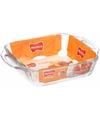 Glazen lasagneschaal vierkant 24 x 24 cm