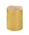 Gouden led kaars 10 cm