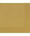 Goudkleurige servetten 33 x 33 cm
