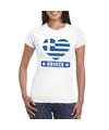 Griekenland hart vlag t shirt wit dames
