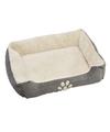 Grijze hondenmand hondenkussen 75 cm
