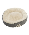 Grijze hondenmand hondenkussen rond 58 cm