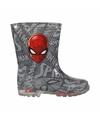 Grijze spiderman regenlaarzen voor jongens