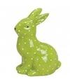 Groen haas konijn dierenbeeldje 10 cm