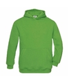 Groene katoenmix sweater met capuchon voor meisjes