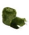 Groene monsterpoten pantoffels voor dames