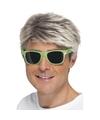 Groene neon feestbril voor volwassenen