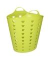 Groene wasmand flexibel 60 liter