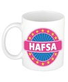 Hafsa naam koffie mok beker 300 ml