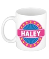 Haley naam koffie mok beker 300 ml