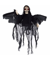 Halloween bewegende skelet pop zwart met licht en geluid