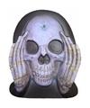 Halloween enge gluurder skelet hoofd decoratie