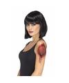 Halloween gescheurde huid met rits tattoo