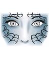 Halloween gezicht stickers spinnenweb 1 vel