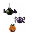 Halloween halloween hangdecoraties pompoen vleermuis en spin