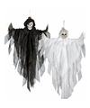 Halloween hangdecoratie witte spook pop 75 cm