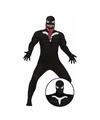 Halloween horror donkere superheld kostuum