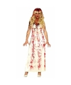 Halloween horror kostuum lange bloederige witte jurk