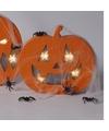 Halloween knutselsetje pompoen met licht en spinnenrag
