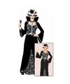 Halloween luxe vampieren jurk zwart wit voor dames