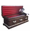 Halloween opblaasbare doodskist met vampier en verlichting 200 cm