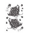 Halloween realistische gothic tattoos zwarte rozen 1 vel