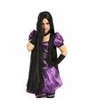 Halloween zwarte damespruik met mega lang haar 100 cm