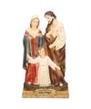 Heilige familie met jezus maria en jozef 15 cm